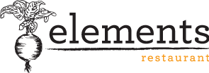 Elements Restaurant logo scroll