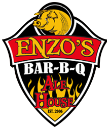 Enzo's BBQ logo scroll