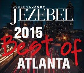 Jezebel in letters, city scenery in background