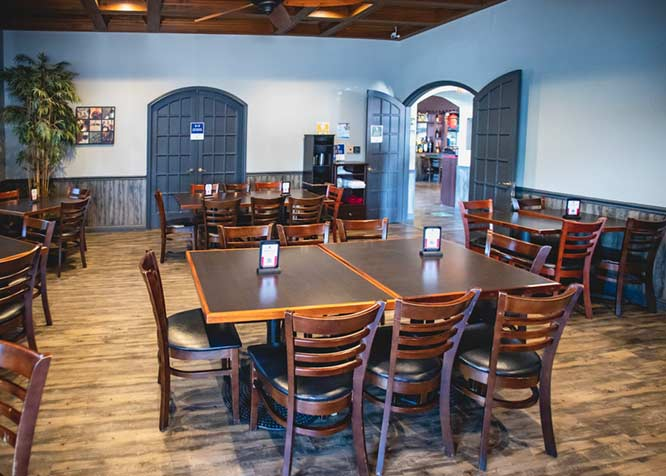 restaurant interior with the tables
