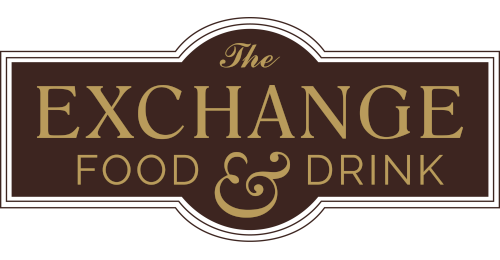 The Exchange Food and Drink logo scroll
