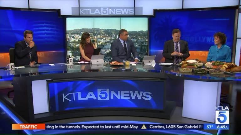 Factor's Famous Deli on KTLA5 News