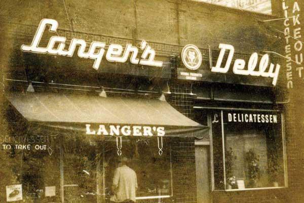 Langer's Delly entrance, vintage photo