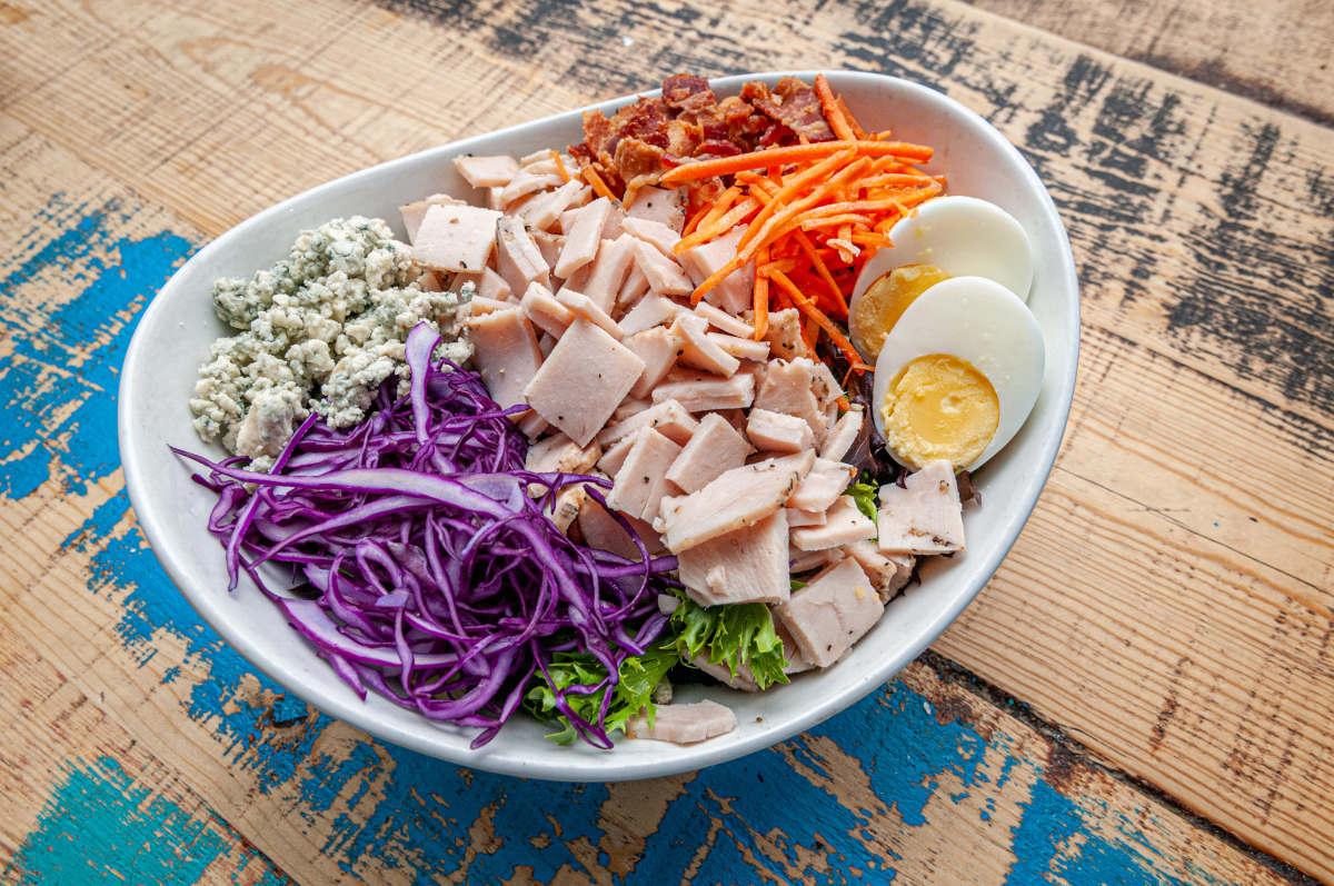 sous vide turkey, cobb salad