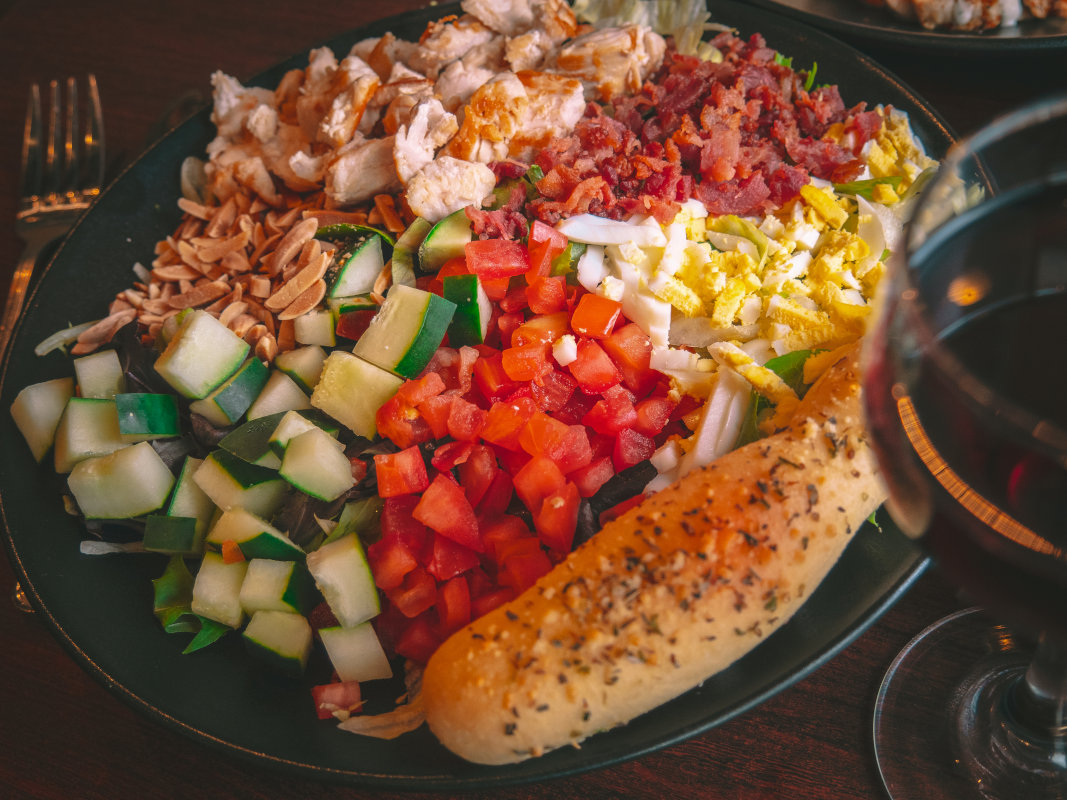 chop chop salad with different vegetables