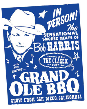 Grand Ole BBQ event flyer illustration