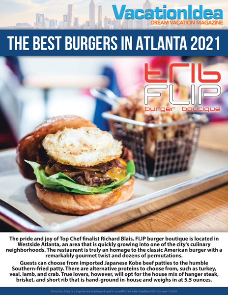 Best burger restaurants in Atlanta 2021