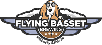 Flying Basset Brewing logo scroll
