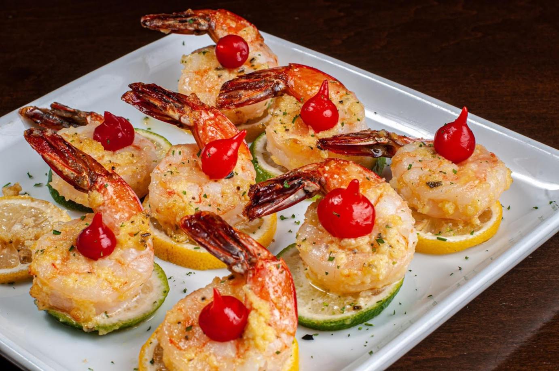 Decorated shrimps