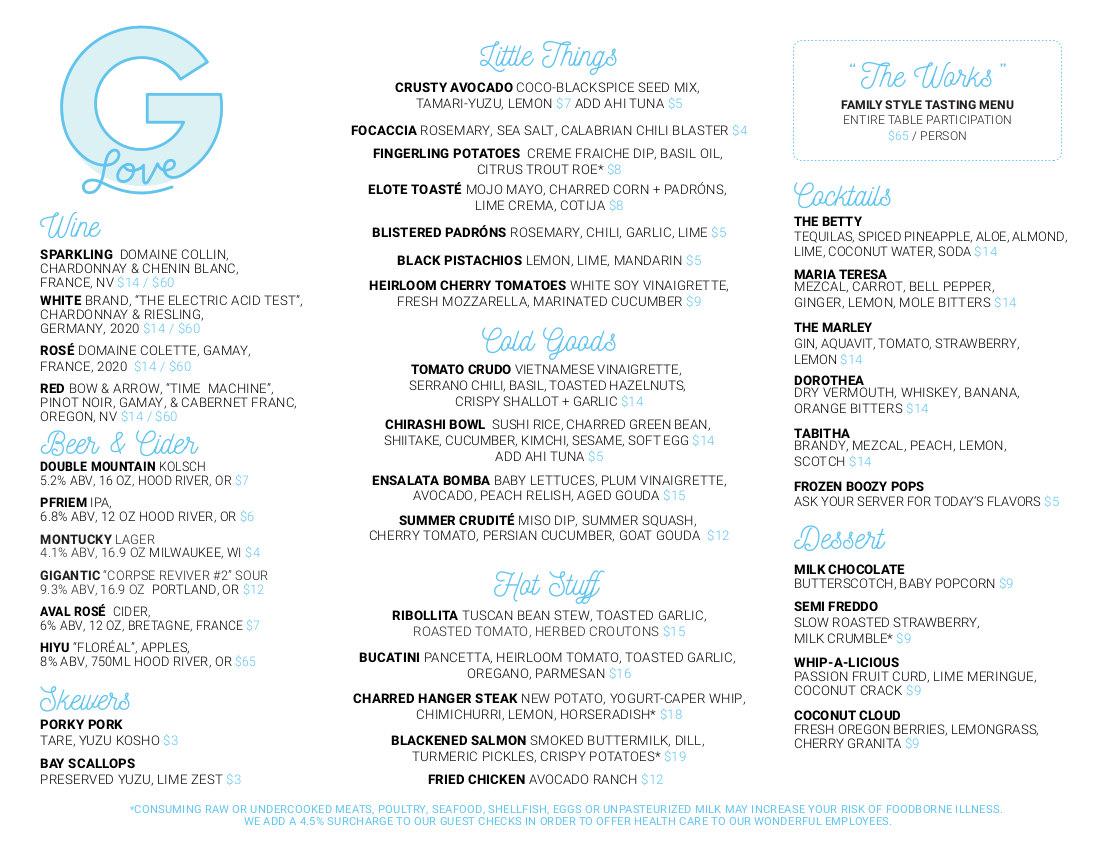 second menu list