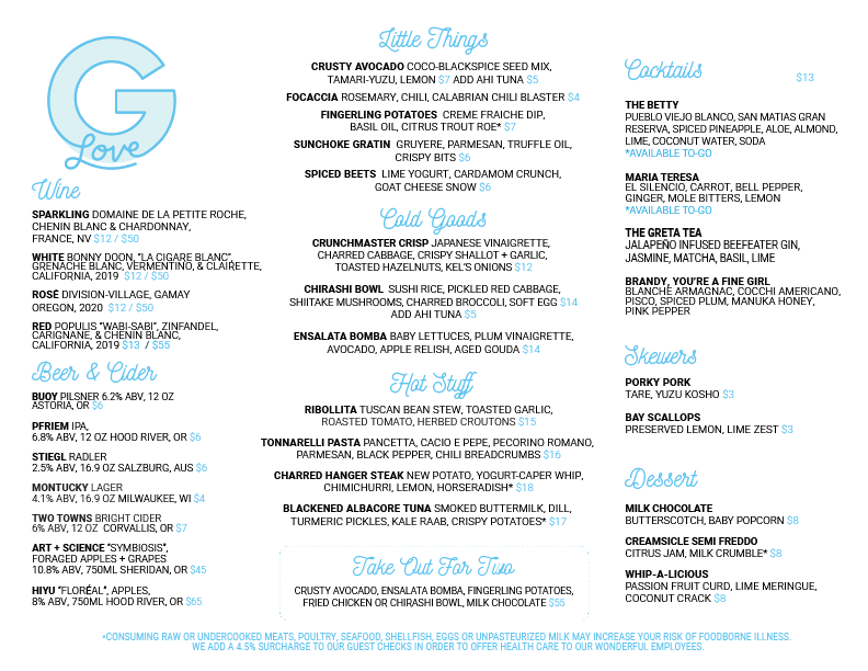 second menu list