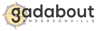 Gadabout logo scroll
