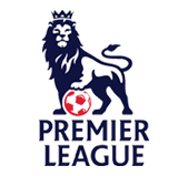premier league logo, lion standing on a football