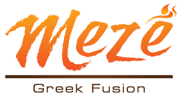 Meze Greek Fusion logo scroll
