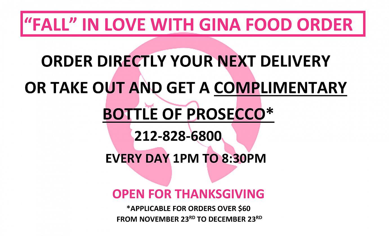 gina order flyer