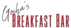Gocha's Breakfast Bar logo scroll