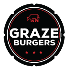 Graze Burgers logo scroll