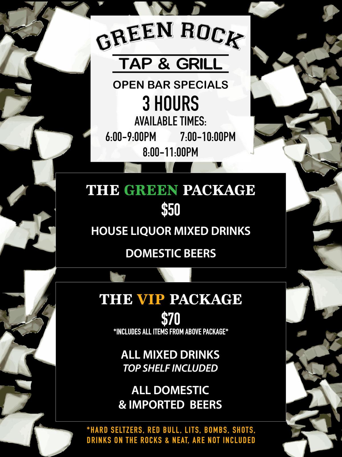 open bar specials