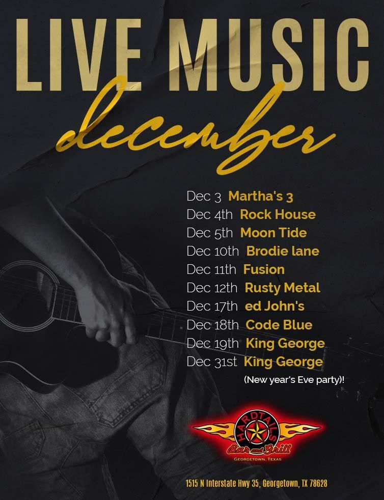 live music December flyer