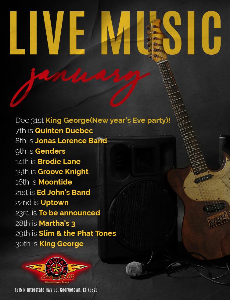 live music January flyer