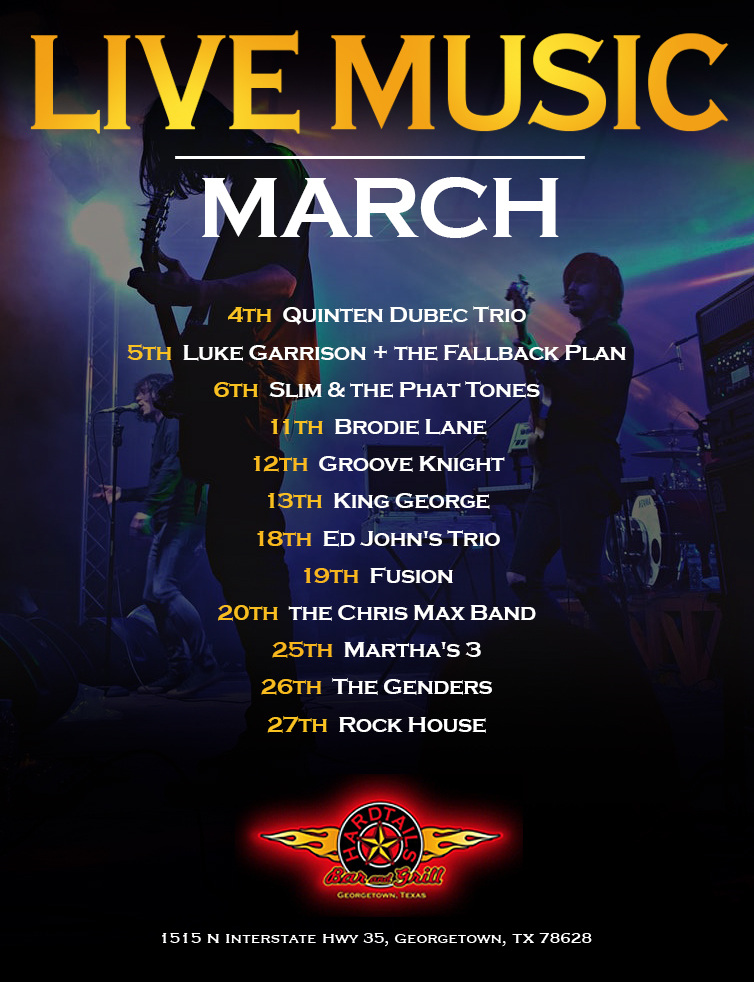 live music March flyer
