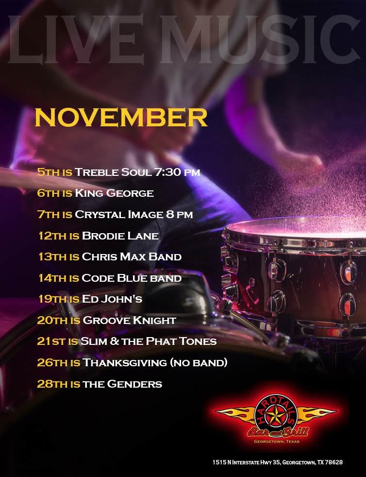 live music November flyer
