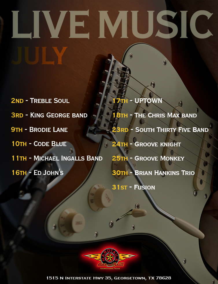 live music July flyer