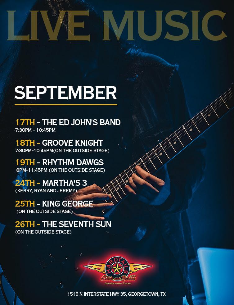 live music September flyer