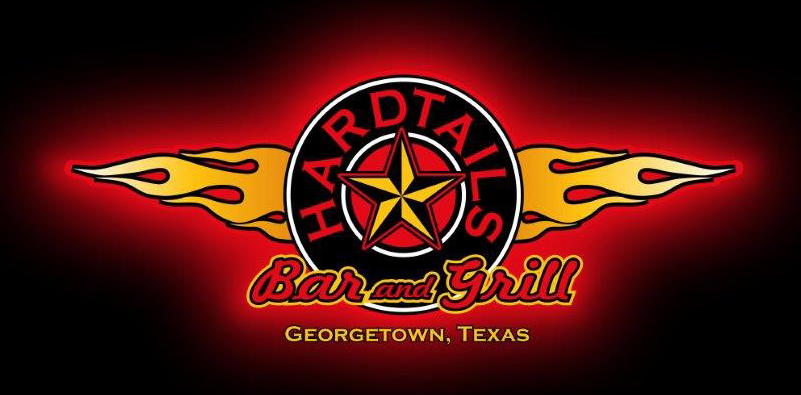 Hardtails bar & Grill logo scroll