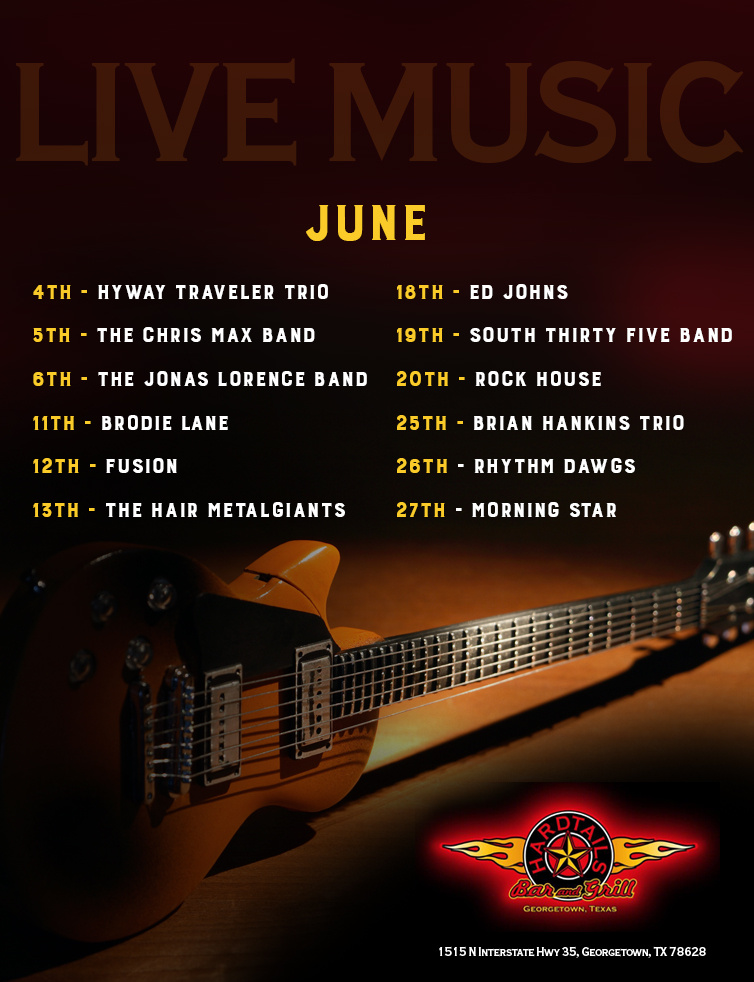 live music June flyer