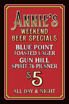 weekend beer specials flyer