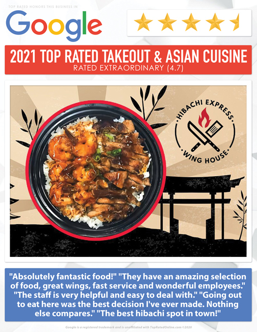 2021 top rated takeout & asian auisine