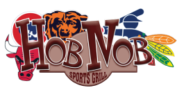 Hob Nob Sports Grill logo scroll