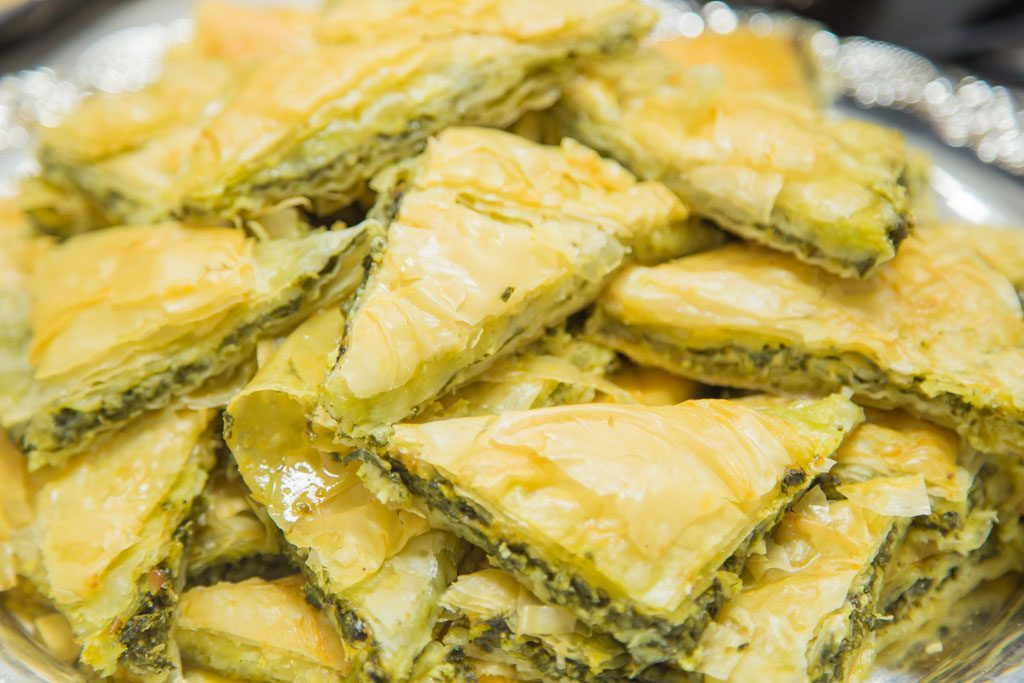 A pile of baklava triangles