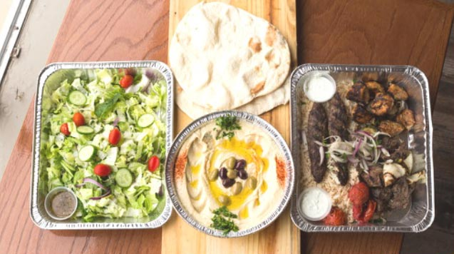 spreading, kebab, salad