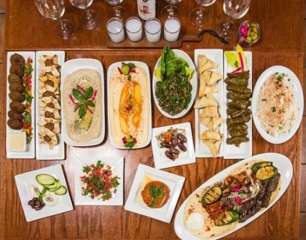 different middle eastern dishes