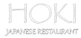 HOKI Japanese Restaurant logo scroll