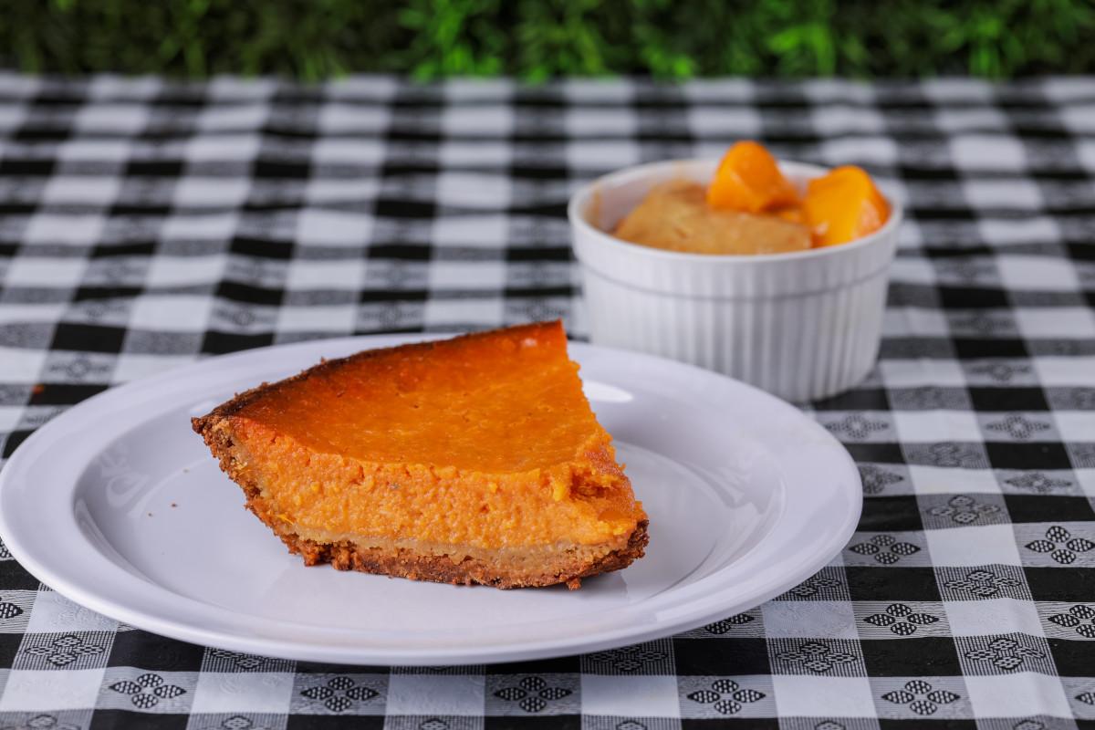 peach cobbler and sweet potato pie