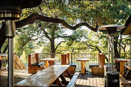 Outdoor patio under the tree