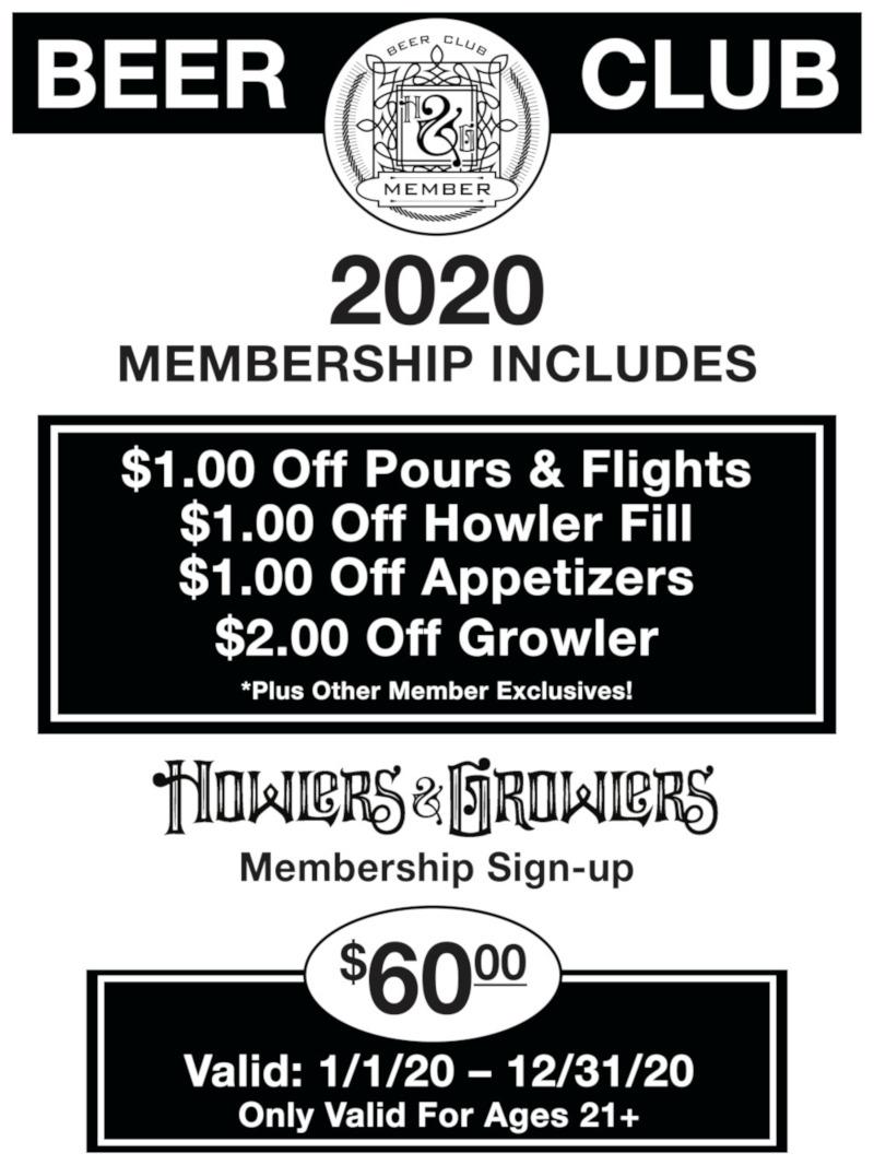 beer club flyer