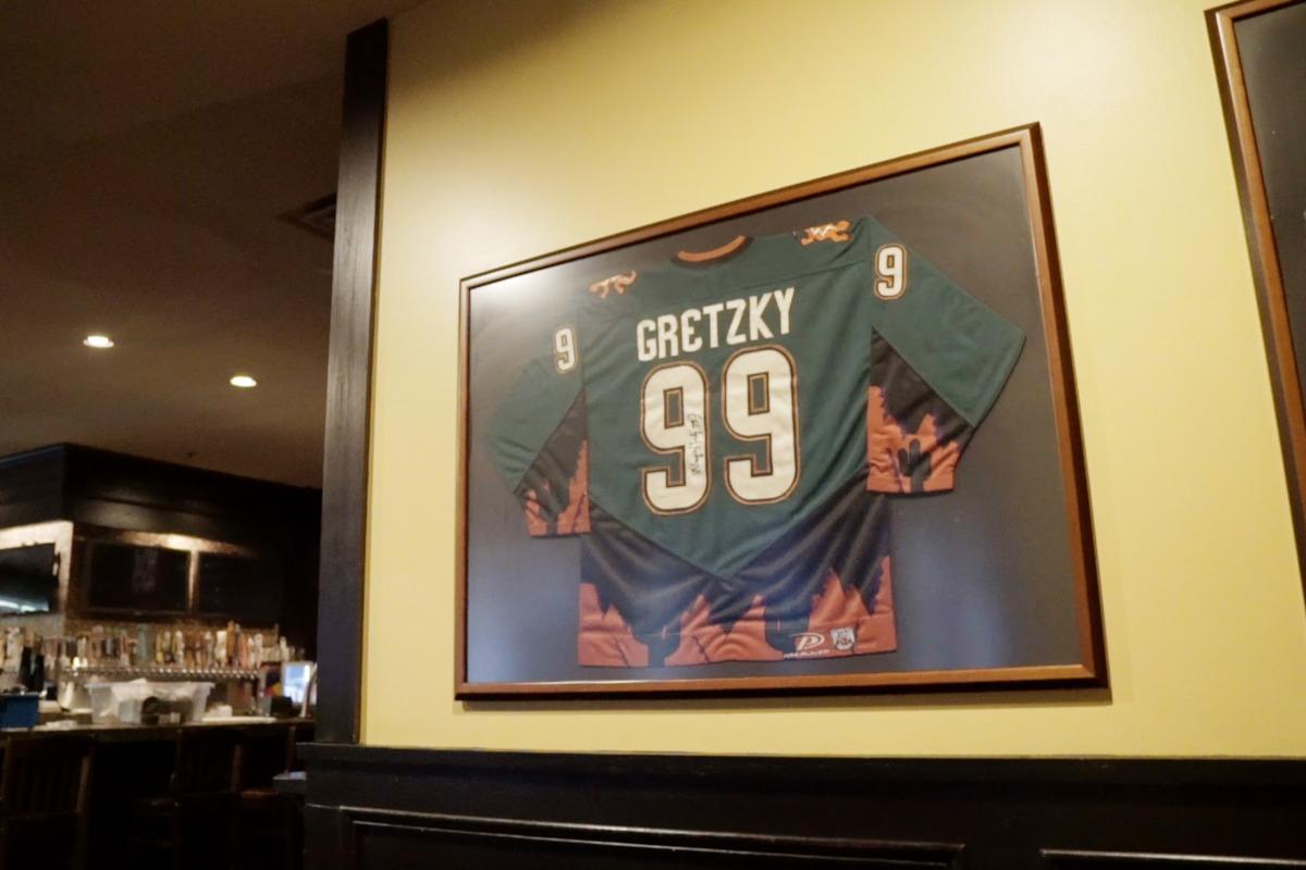 Gretzky 99, framed jersey