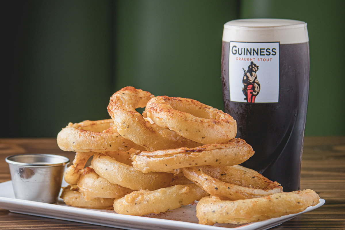 guiness onion rings