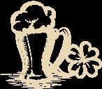 Mug and clover drawing