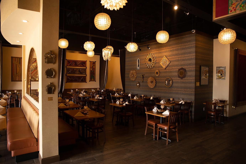 Restaurant interior, wall ornaments