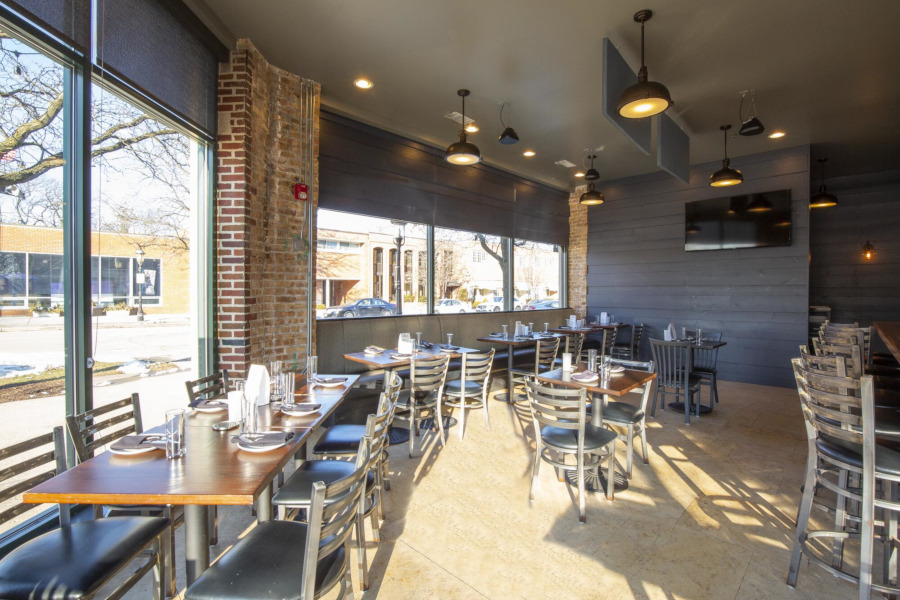 Restaurant interior, tables ready for guets