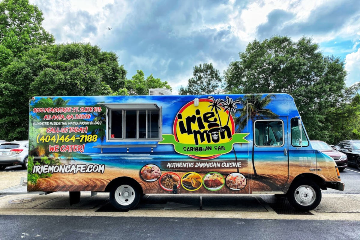 Irie mon colorful food van