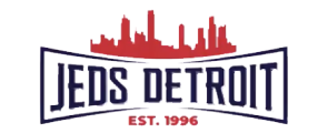 Jed's Detroit logo top