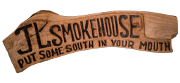 JL Smokehouse logo scroll