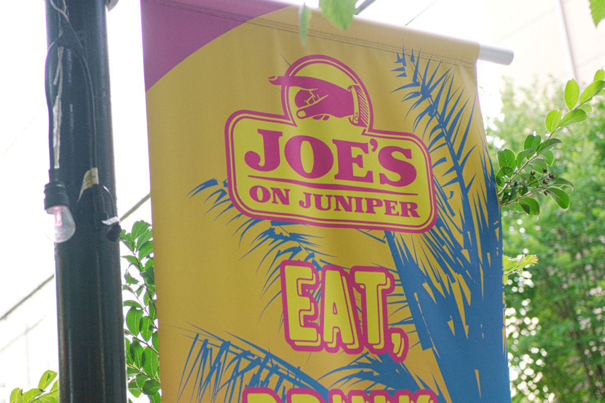 Joe's on juniper banner