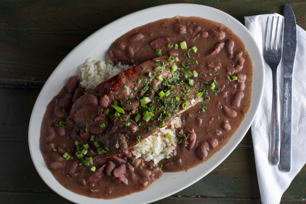 red beans, rice, sausage